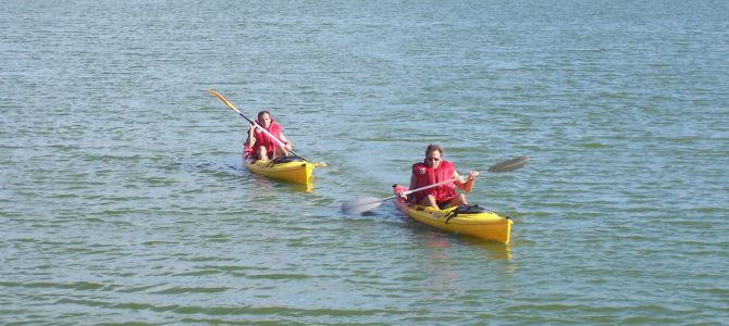 Kayak en el embalse del Argos Agosto 2005